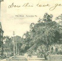 Image of Fifth Street, Fernandina, Fla. - Postcard, Picture