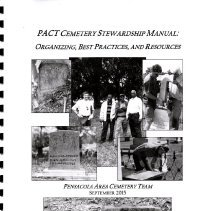 Image of PACT Cemetery Stewardship Manual:  Organizing, best practices, and resources - Pamphlet, Instruction