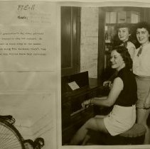 Image of Betty Stone, Dixie Price, Joan Oxley play spinnet.