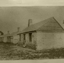 Image of Tabby houses slave quarter during Civil War Reconstruction