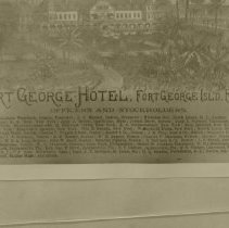 Image of Fort George Island Hotel advertizement