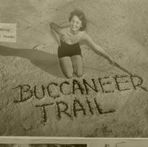 Image of Buccaneer Trail Beauty writing in sand