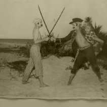 Image of Pirates dueling for the girl
