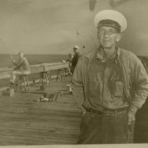 Image of Mr. Gus Gerbing on his pier