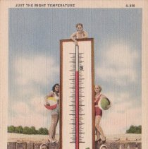 Image of Just the Right Temperature - Postcard, Picture