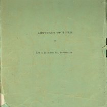 Image of Abstract of Title to Lot 3, Block 55