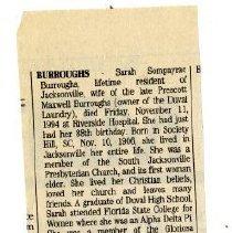 Image of BURROUGHS obituary