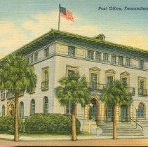 Image of Post Office, Fernandina, Fla. - Postcard, Picture