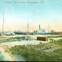 Image of Naval Store Docks - Postcard, Picture