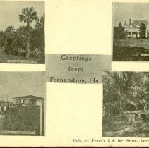 Image of Greetings from Fernandina, Fla. - Postcard, Picture
