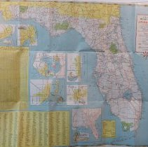 1950 Official Road Map of Florida - Map