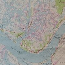 Image of 1982 Mayport Quadrangle 7.5 minute Topographic Map