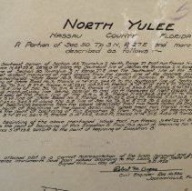 Image of 1928 plat of north Yulee