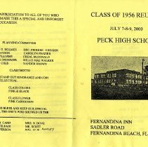 Image of Class of Peck High, 1956, Program for Reunion, July, 2000. - Program