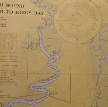 Image of 1969 Nautical Chart Cumberland Sound GA, Fernandina Fl