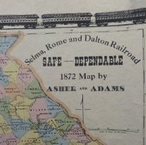Image of 1872 map of Railroads in Alabama and Georgia