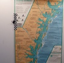 Image of Coastal Georgia Barrier Islands - Map