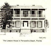 Image of Lesesne House Plaque Postcard - Postcard