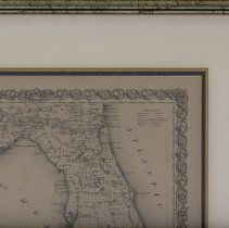 Image of Framed Map of Florida 1855 - Map