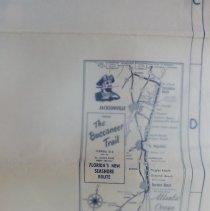 Image of 1950's Map of Fernandina Beach Florida