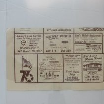 Image of 1976 map of Nassau and Duval Co, Bicentennial Edition