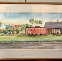 Image of Watercolor of Depot - Painting