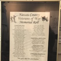 Image of Roll of Nassau County Veterans - Print