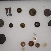 Image of Civil War Artifacts - Buttons & Pins - Button, Military