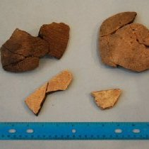 Image of St Johns Check Stamped Potsherds - Potsherd