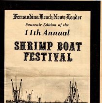 Image of Fernandina Beach News-Leader Souvenir Edition of 11th Annual Shrimp Boat Festival, May 3, 4 and 5, 1974 - Newspaper