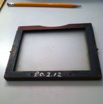 Image of Photographic glass/metal plate - Camera