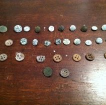 Image of Civil War Artifacts - Buttons  - Button, Military