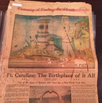 Image of Crowning A Century in Florida: Ft. Caroline - Newspaper