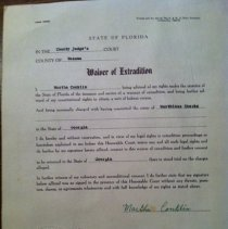 Image of Nassau County Sheriffs Ofiice  Extradition orders. - Ledger