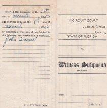 Image of Witness Subpoena - Subpoena