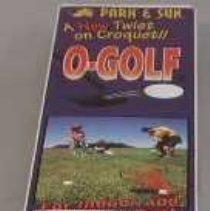 "Image of ""O-Golf"" Game - Game box: multicolored cardboard."