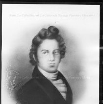 Image of Antoine Robidoux.  Black and white photographic print of a charcoal portrait of Antoine Robidoux. Maker's Mark: Unknown - Photographs