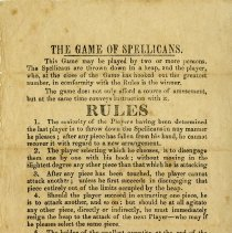 Image of Rules for The Game of Spellicans