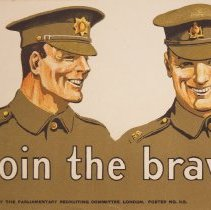 Image of WW1Recruiting Poster, Detail One