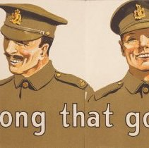 Image of WW1Recruiting Poster, Detail Two
