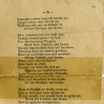 "Image of ""The Royal City"" poem continued, page 3"