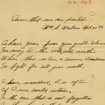 """Image of .2 - Poem, """"Know that we are parted,"""" Apr.30, 1899"""