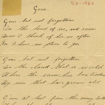 """Image of .3 - Poem, """"Gone,"""" by Wm. C. Waldren"""