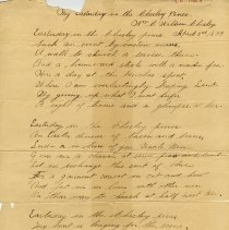 """Image of .1 - Poem, """"Any Easterday in the Chesley Pines,"""" 1899"""