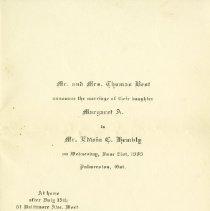 Image of .1 Marriage Announcement of Margaret Best, June 1905