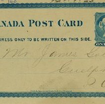 Image of Penny Post Card to James Goldie