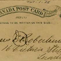 Image of Post Card to Messrs. Robertson & Co.