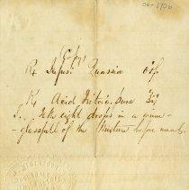Image of .2 - Prescription on paper with N.Higinbotham's stamp