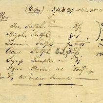 Image of .1 - Prescription (Copy) dated Jan. 8, 1858