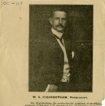 Image of Newspaper Photograph of W.A. Higinbotham